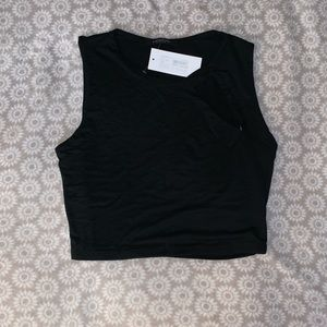Crop Top with Cutout Detail